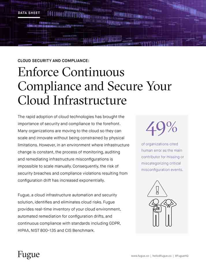 Enforce Continuous Compliance & Secure Your Cloud Infrastructure