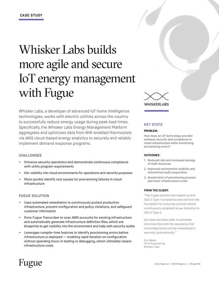Whisker Labs builds more agile and secure IoT energy management with Fugue